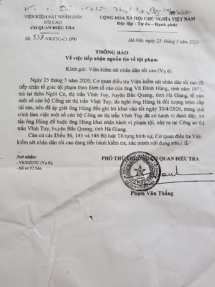 Vĩnh Tuy (Bắc Quang – Hà Giang): Cần làm rõ hành vi đánh đập dã man công dân với lý do sai sót nghiệp vụ? - Ảnh 5