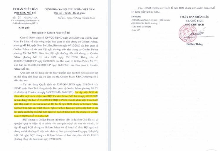 Nam Từ Liêm – Hà Nội:  Cần minh bạch trong thu chi quỹ bảo trì tại tòa nhà Golden Palace - Ảnh 3