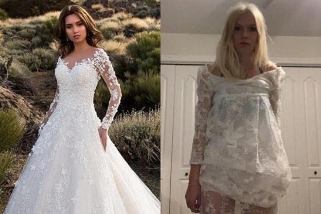 Đặt mua váy cưới gợi cảm trên mạng, sản phẩm nhận về khiến cô nàng phải hoãn đám cưới - Ảnh 1
