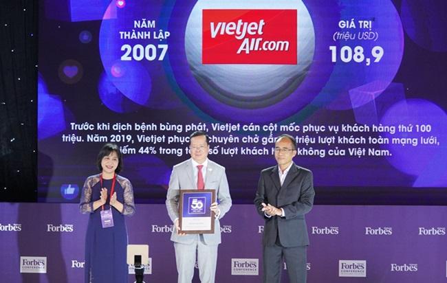 Vietjet vào top 50 Thương hiệu dẫn đầu 2020 do Forbes bình chọn - Ảnh 2