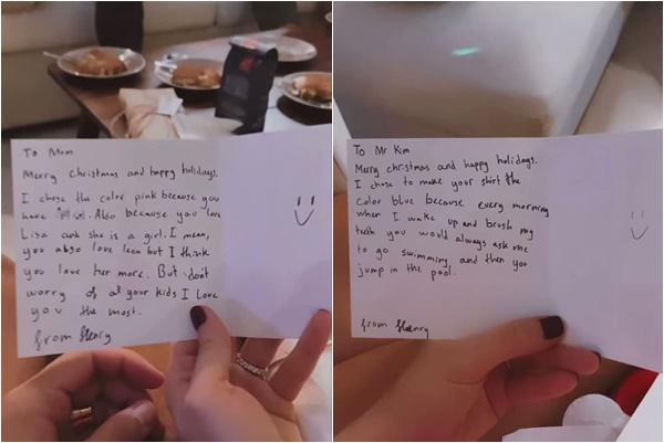 Hà Hồ khoe thiệp Giáng sinh Subeo gửi Kim Lý, tiết lộ mối quan hệ của con trai riêng và chồng - Ảnh 1