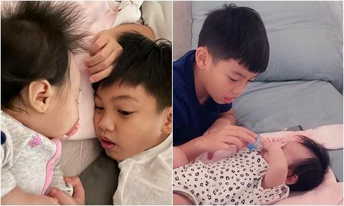 Đăng ảnh khoe bóng lưng Subeo, Hà Hồ tiết lộ khoảnh khắc anh cả ân cần với 2 em song sinh - Ảnh 2