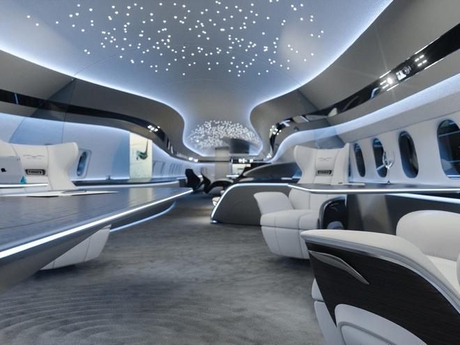 Choáng ngợp với nội thất của máy bay cá nhân xa hoa như tàu vũ trụ tương lai - Ảnh 1
