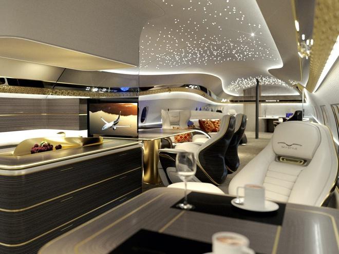 Choáng ngợp với nội thất của máy bay cá nhân xa hoa như tàu vũ trụ tương lai - Ảnh 7