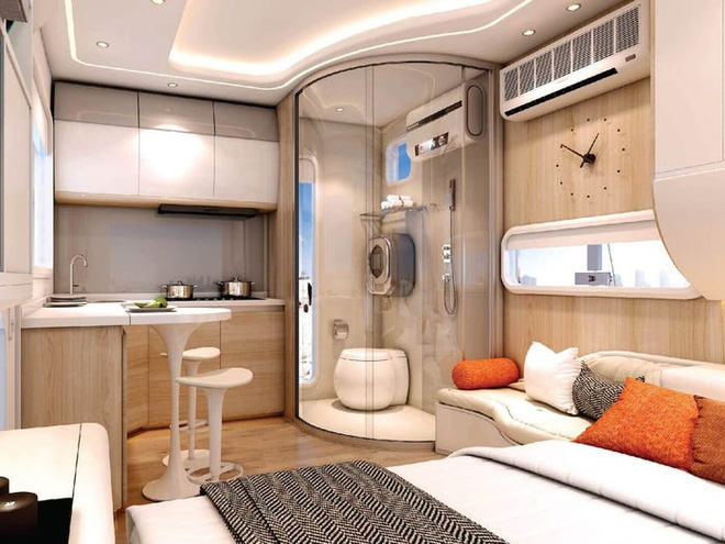 Ngắm căn nhà thông minh có thiết kế như tàu vũ trụ, giá từ 52.000 USD - Ảnh 2