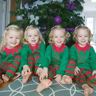 Lịm tim trước vẻ xinh xắn, đáng yêu của 4 bé gái trong ca sinh tư nổi tiếng thế giới  - Ảnh 12