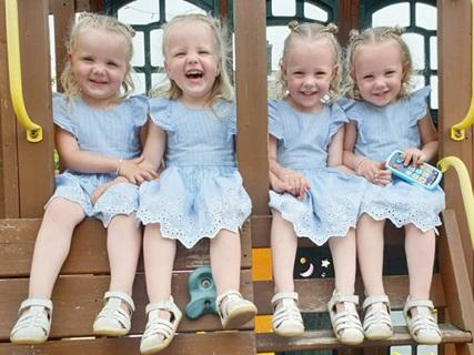 Lịm tim trước vẻ xinh xắn, đáng yêu của 4 bé gái trong ca sinh tư nổi tiếng thế giới  - Ảnh 6