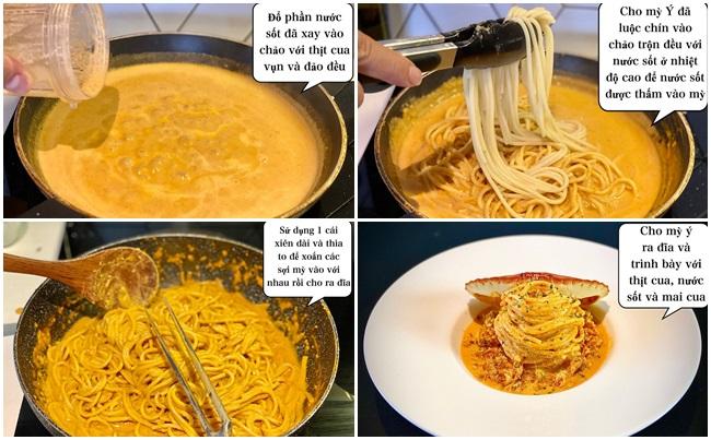 Bỏ túi công thức mỳ Ý cua thơm ngon khó cưỡng, đúng chuẩn nhà hàng - Ảnh 5