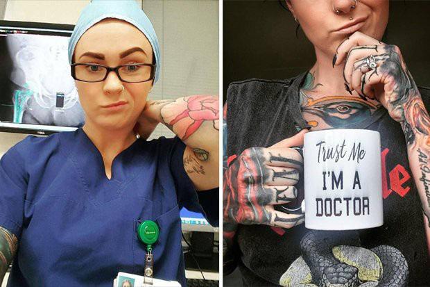 Ngắm nhan sắc cực phẩm của nữ bác sĩ xăm trổ nhiều nhất thế giới - Ảnh 2