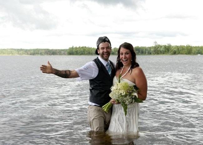 """Chụp ảnh cưới theo phong cách """"bước nhảy hoàn vũ"""", cô dâu chú rể gặp """"thảm họa"""" không ai ngờ - Ảnh 5"""
