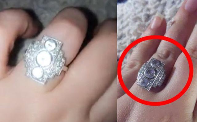 """Chiếc nhẫn quý giá đính 3 viên kim cương lấp lánh, nhưng dân mạng lại tưởng tượng ra thứ """"kém sang"""" thế này - Ảnh 1"""