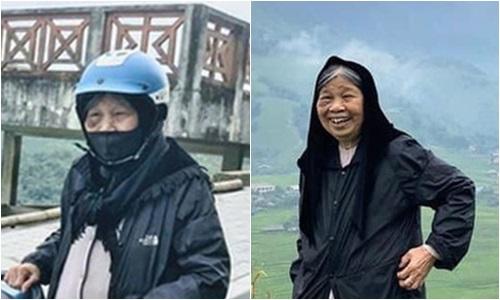 """Cụ bà 90 tuổi vẫn """"phượt"""" lên Sapa bằng xe máy, độ """"chịu chơi"""" khiến dân mạng trầm trồ - Ảnh 1"""