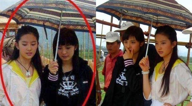 14 năm trước Dương Mịch cầm ô phục vụ Lưu Diệc Phi, chẳng thể ngờ giờ lại bà chủ mát tay của showbiz Hoa ngữ - Ảnh 1