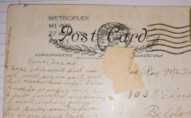 Hé lộ nội dung tấm bưu thiệp được gửi từ quá khứ cách đây đến gần... 100 năm - Ảnh 1