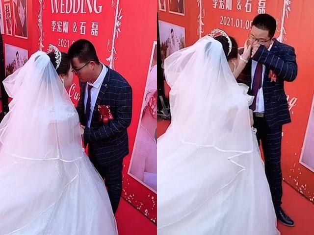 Chú rể bật khóc trong đám cưới, biết lý do ai cũng thương cảm - Ảnh 1