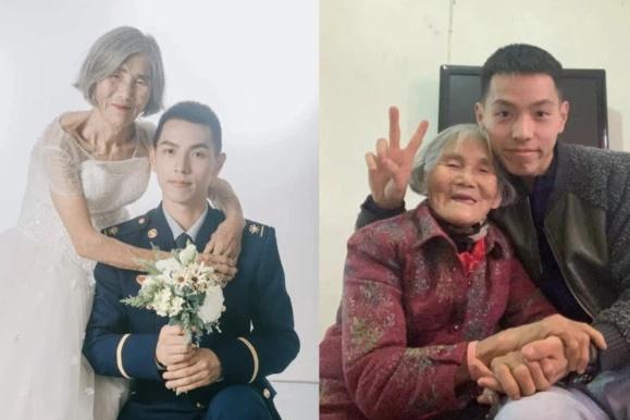 """Sự thật đằng sau bức """"ảnh cưới"""" của chàng lính cứu hỏa và """"cô dâu"""" hơn 61 tuổi  - Ảnh 1"""