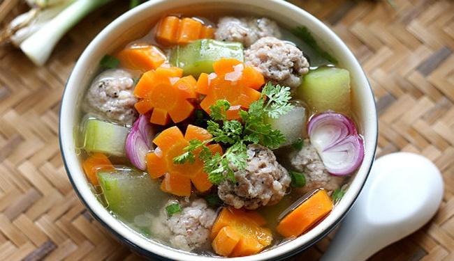 Bí quyết nấu canh thịt viên rau củ, ngọt nước, thơm lừng - Ảnh 2