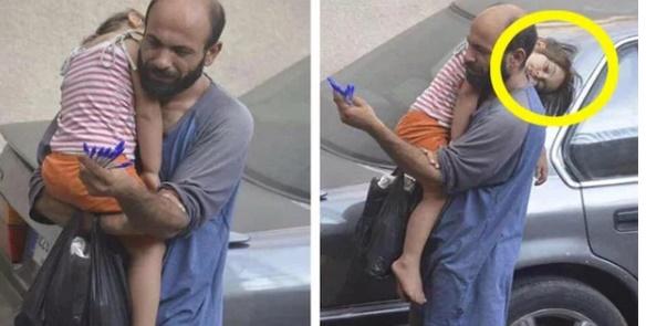 Bố bế con gái nhỏ đi bán bút bi dạo đổi đời ngoạn mục, tất cả nhờ một bức ảnh chụp lén - Ảnh 1