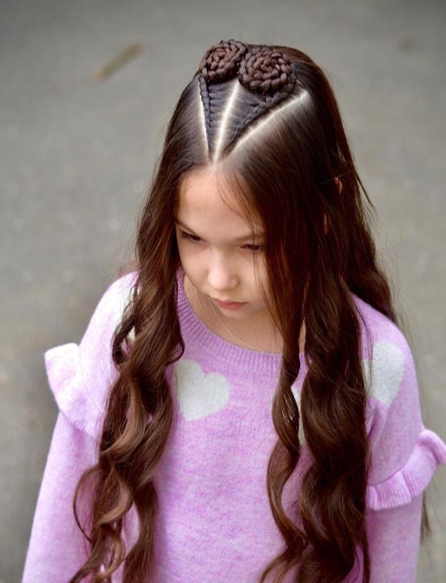 Mê mẩn trước 1001 kiểu tóc mẹ tết cho con gái, mái tóc thành kiệt tác 3D tuyệt phẩm - Ảnh 2