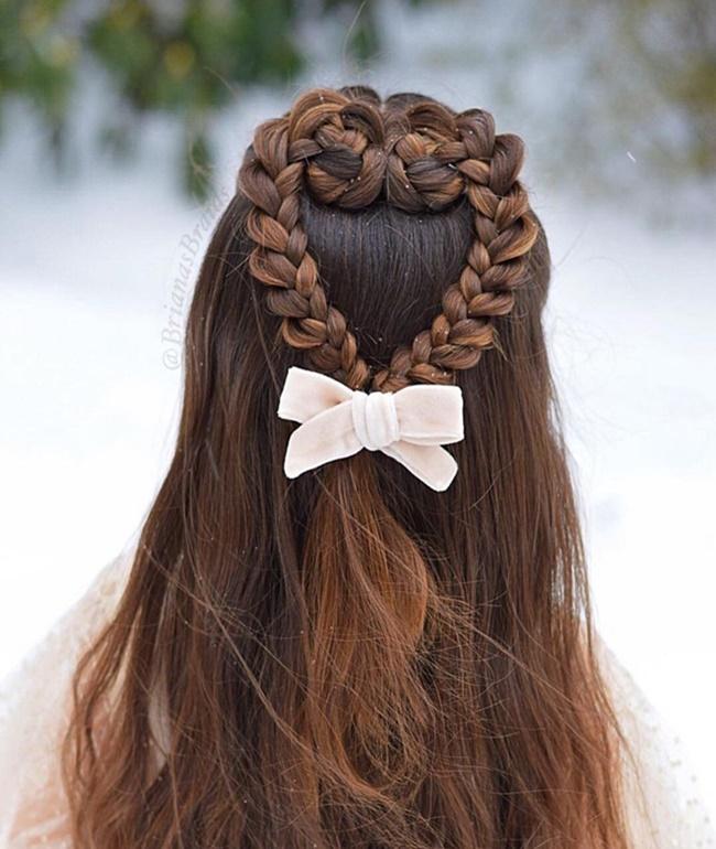 Mê mẩn trước 1001 kiểu tóc mẹ tết cho con gái, mái tóc thành kiệt tác 3D tuyệt phẩm - Ảnh 4