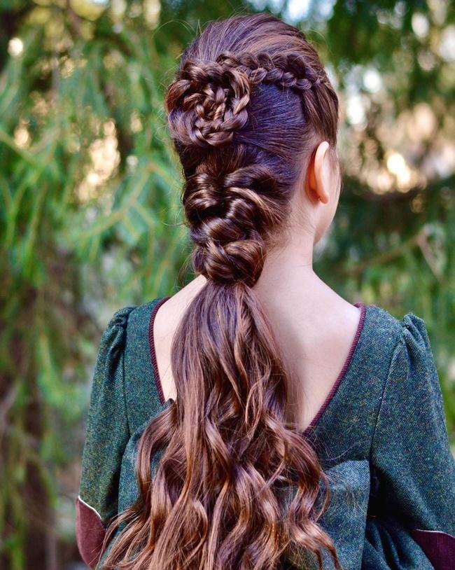 Mê mẩn trước 1001 kiểu tóc mẹ tết cho con gái, mái tóc thành kiệt tác 3D tuyệt phẩm - Ảnh 6