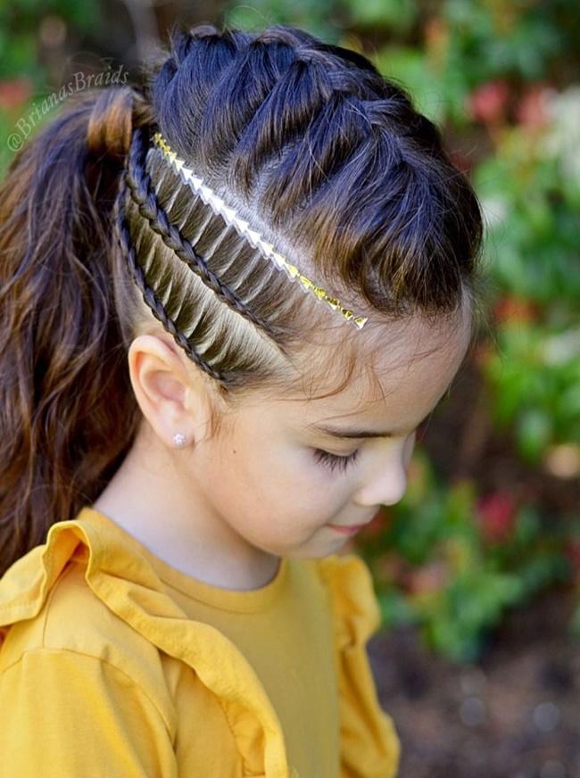 Mê mẩn trước 1001 kiểu tóc mẹ tết cho con gái, mái tóc thành kiệt tác 3D tuyệt phẩm - Ảnh 8