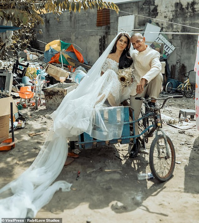 """Cặp đôi U60 nhặt ve chai """"lột xác"""" ngoạn mục trong bộ ảnh cưới, dân mạng trầm trồ không ngớt - Ảnh 3"""