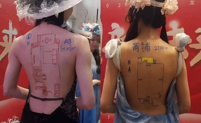 Bức xúc với chiêu trò bắt người mẫu mặc đồ gợi cảm, vẽ sơ đồ nhà đất lên lưng trần  - Ảnh 1