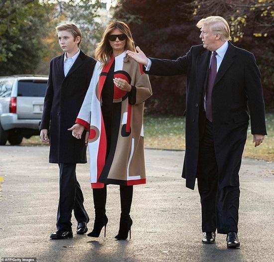 """""""Hoàng tử Nhà Trắng"""" Barron Trump và loạt khoảnh khắc gây bão cộng đồng mạng  - Ảnh 6"""