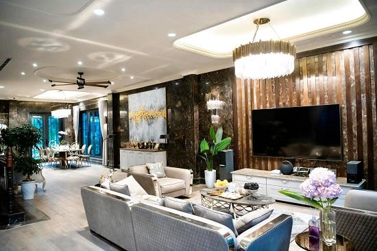"""Cận cảnh biệt thự rộng 450 m2, """"sang chảnh"""" như khách sạn 5 sao của Lã Thanh Huyền  - Ảnh 3"""