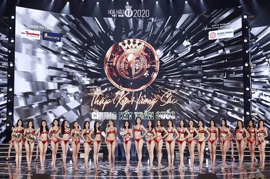Cận cảnh phần thi bikini khoe trọn đường cong của Top 22 Hoa hậu Việt Nam 2020 - Ảnh 1