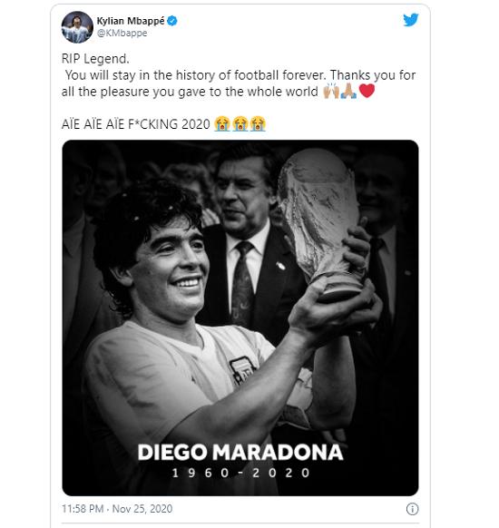 Pele, Messi và các ngôi sao bóng đá tưởng nhớ đến huyền thoại Diego Maradona  - Ảnh 2