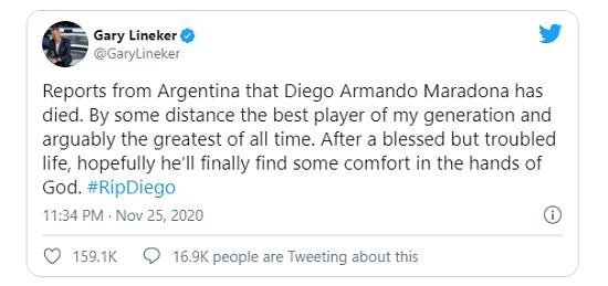 Pele, Messi và các ngôi sao bóng đá tưởng nhớ đến huyền thoại Diego Maradona  - Ảnh 3