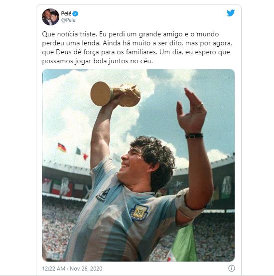 Pele, Messi và các ngôi sao bóng đá tưởng nhớ đến huyền thoại Diego Maradona  - Ảnh 5