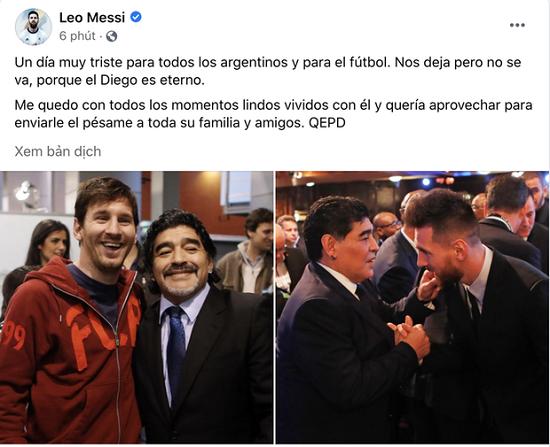 Pele, Messi và các ngôi sao bóng đá tưởng nhớ đến huyền thoại Diego Maradona  - Ảnh 6