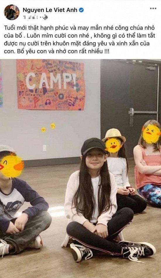 """""""Nam thần"""" Việt Anh bất ngờ đăng ảnh con gái lớn sau hơn 10 năm không gặp  - Ảnh 1"""