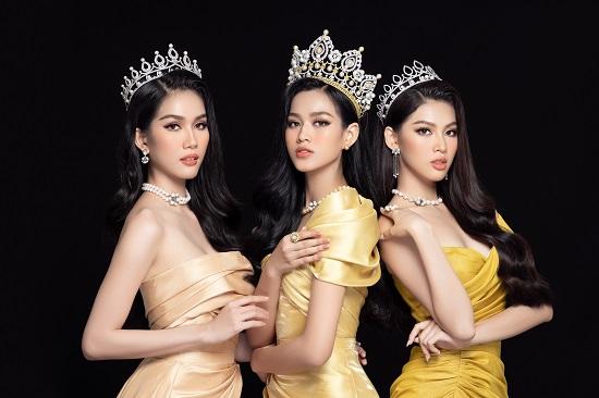 """Cận cảnh nhan sắc """"thăng hạng"""" của Hoa hậu Đỗ Thị Hà cùng 2 Á hậu trong bộ ảnh mới toanh - Ảnh 1"""