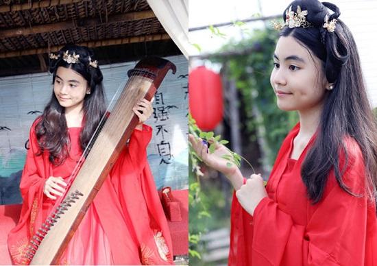 """Con gái MC Quyền Linh xinh đẹp như """"tiểu tiên nữ"""" khi diện đồ cổ trang - Ảnh 8"""