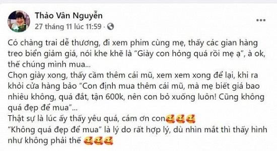 """Con trai MC Thảo Vân được """"người bí mật"""" gửi quà sau khi không dám mua đồ đắt tiền  - Ảnh 2"""