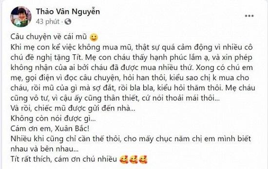 """Con trai MC Thảo Vân được """"người bí mật"""" gửi quà sau khi không dám mua đồ đắt tiền  - Ảnh 4"""