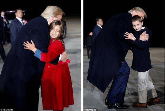 """Hai nhóc tì được Tổng thống Trump âu yếm gây chú ý, chiếm trọn """"spotlight"""" tại sự kiện lớn  - Ảnh 2"""