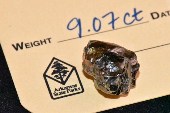 """Thần may mắn """"chiếu cố, quản lý ngân hàng tìm được viên kim cương 9,07 carat trong công viên - Ảnh 1"""