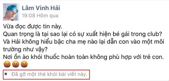 """Lâm Vinh Hải lên án việc cho trẻ em vào quán bar, """"kéo theo"""" cả Binz, Ngọc Trinh  - Ảnh 3"""