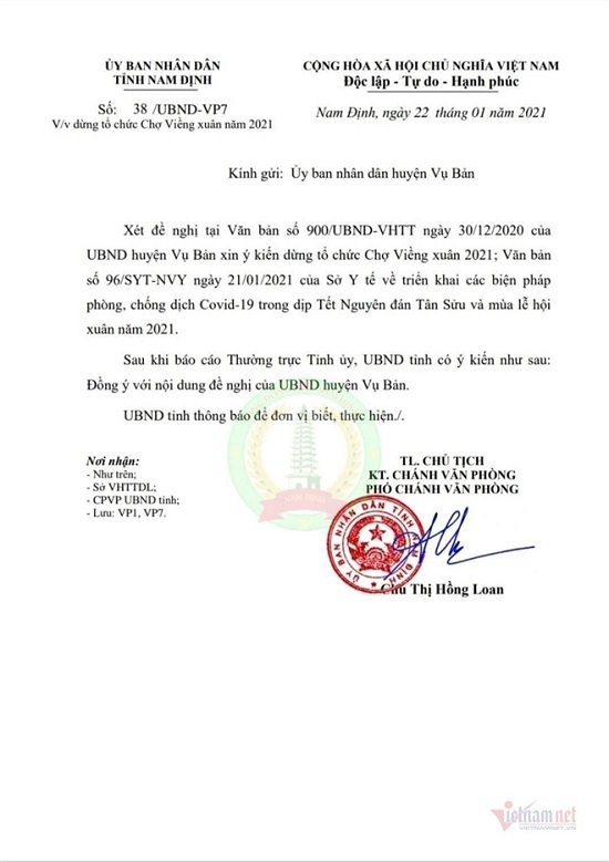 Nam Định dừng tổ chức phiên chợ Viềng dịp Tết 2021  - Ảnh 3