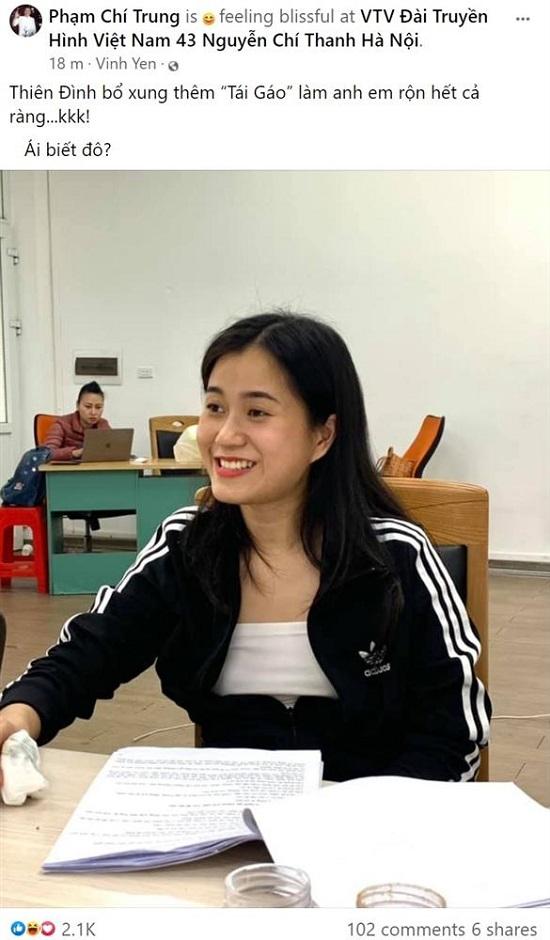 Lâm Vỹ Dạ bất ngờ xuất hiện trong hậu trường chương trình Táo Quân 2021  - Ảnh 2