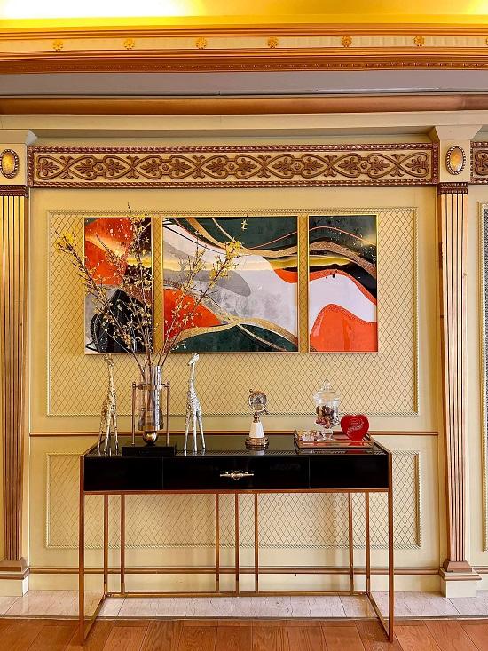 Lê Âu Ngân Anh khoe biệt thự đẹp như cung điện, các phòng trong nhà đều toát lên vẻ xa hoa, giàu có - Ảnh 3