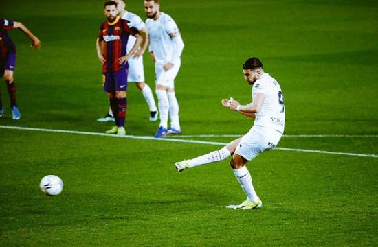 Messi lập cú đúp bằng 2 pha sút xa, đưa Barca tiến gần ngôi đầu bảng - Ảnh 2