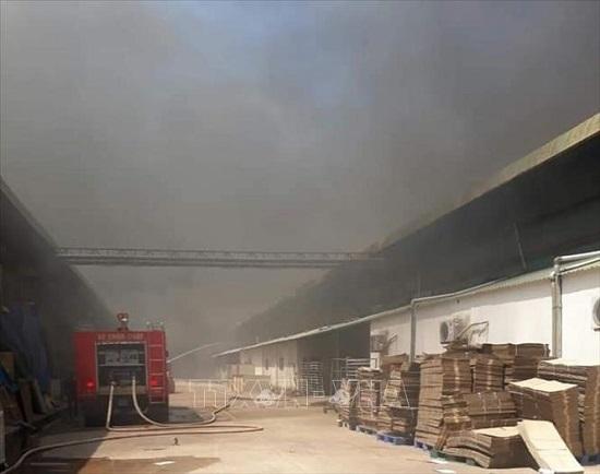 Bình Dương: Đám cháy lớn lan rộng 1.500m² nhà xưởng công ty may mặc  - Ảnh 2