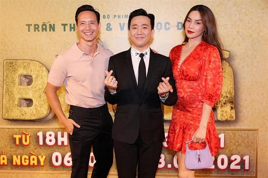 """Hồ Ngọc Hà bất ngờ """"chạm mặt"""" Lệ Quyên tại thảm đỏ ra mắt phim """"Bố già""""  - Ảnh 1"""