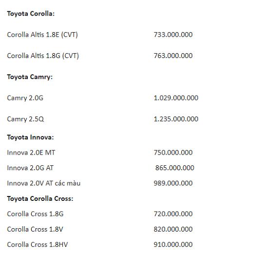 """Bảng giá xe ô tô Toyota mới nhất tháng 4/2021: Cơ hội """"tậu"""" Toyota Vios chỉ với 95 triệu đồng  - Ảnh 4"""